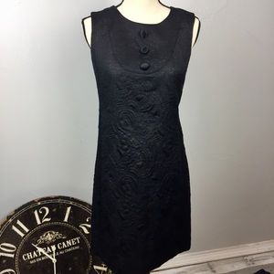 Tommy Hilfiger Black Jacquard Sleeveless Dress